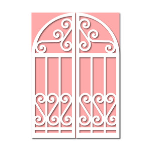 iron gate gatefold card