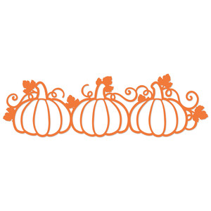 three pumpkin border