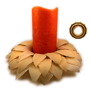candle ring husk wreath