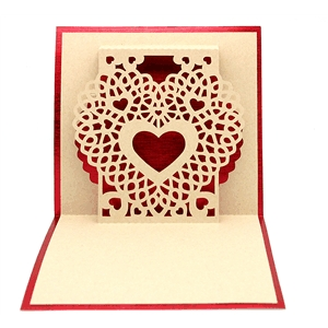 card lace doily heart