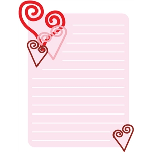 valentine journal tag