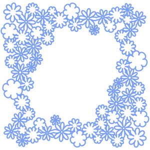 flower frame outline
