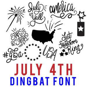 july 4th dingbat font