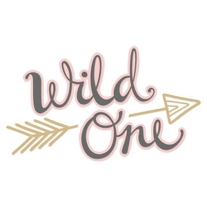 wild one hand lettering
