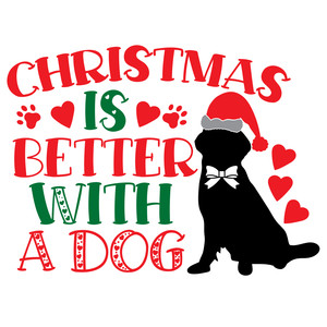christmas is better with a dog