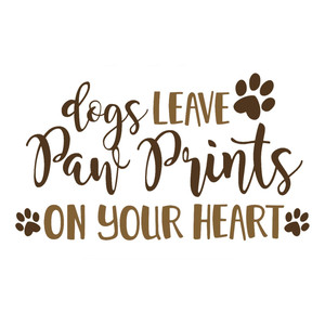 dogs paw prints on your heart phrase