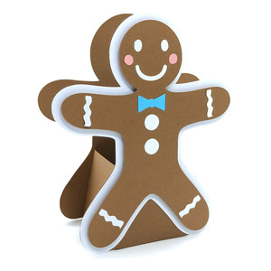 3d christmas gingerbread man box