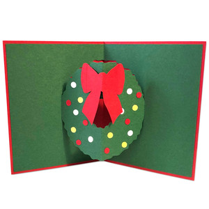 wreath pop-up card