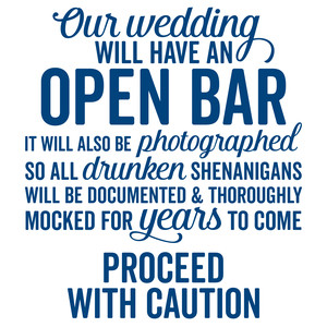 open bar wedding