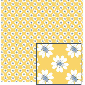 flowers on cream pattern