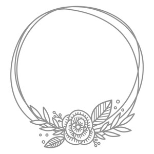 floral doodle messy circle