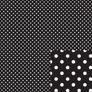 black and white polka dots background paper
