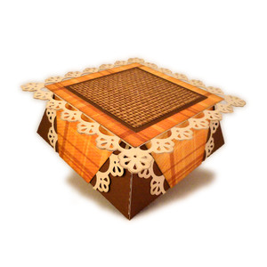 box small square 3d lace inverted sides