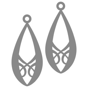 simple ornate earrings