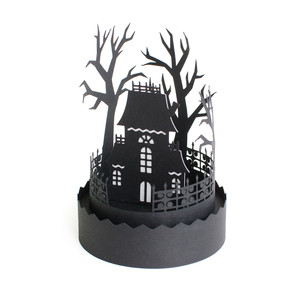 3d haunted house scene