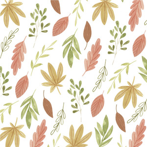 fall watercolor paper white
