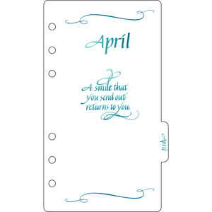 elegant planner a6 binder april divider