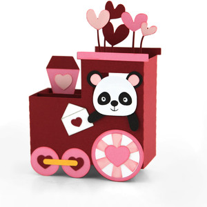 box card valentine train