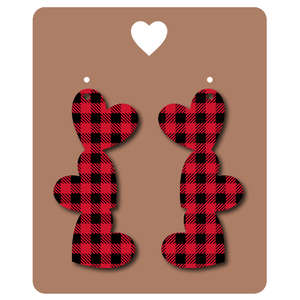 buffalo check earrings and earring card