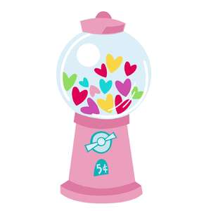 gumball machine of hearts