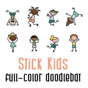 stick kids full color doodlebat