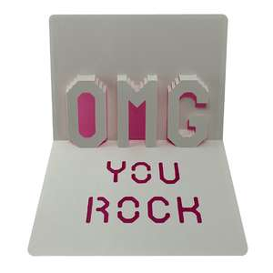 omg you rock popup card