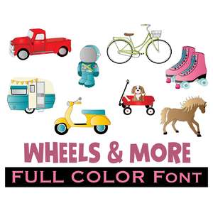 full-color wheels and more dingbats font