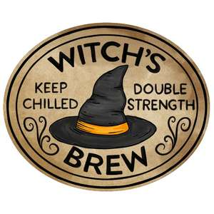 witch's brew potion label
