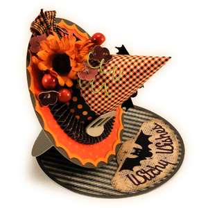 witch hat 3d easel card