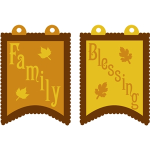 family & blessing pennants