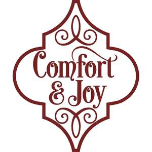 comfort and joy arabesque christmas ornament