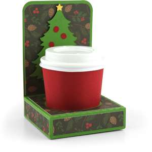 mini coffee cup holder christmas tree