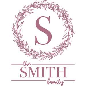 family monogram frame