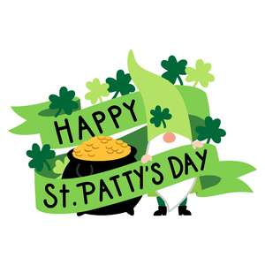 happy st.patrick's day banner