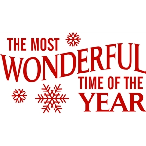 'the most wonderful time of the year' vinyl christmas phrase