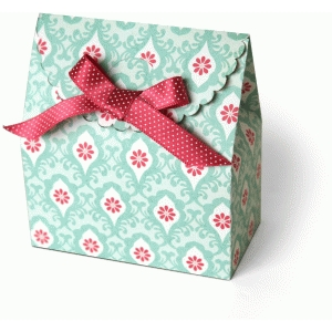 3d scalloped flap favor box