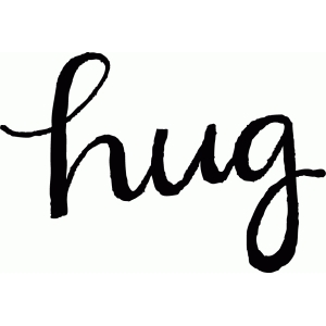 calligraphy hug word