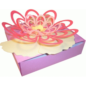 floral topped box
