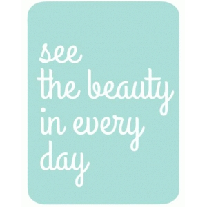 see the beauty 3x4 life card