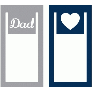 set of 2 dad paperclips
