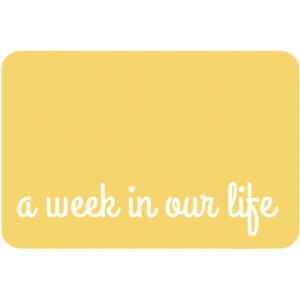 4x6 week in our life journaling card