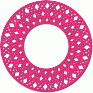 double x circle frame