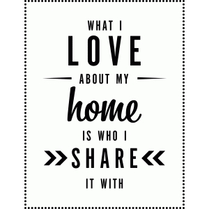 what i love about home vinyl phrase