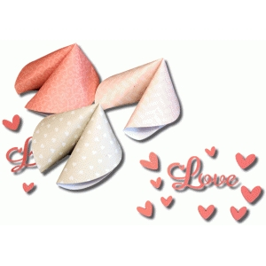 3d valentine fortune cookie