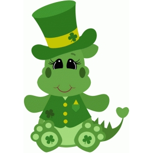 st patricks day dragon sitting