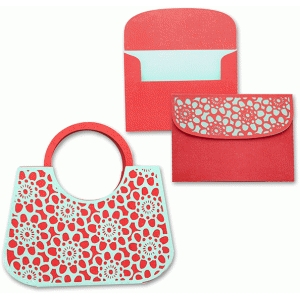 purse card/envelope set floral lace