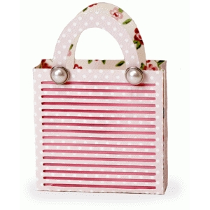 striped gift bag