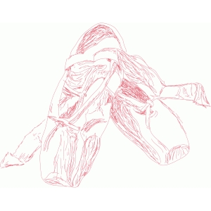 ballet shoes sketch