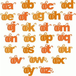 pumpkin block alphabet - lowercase