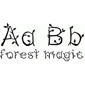forest magic font